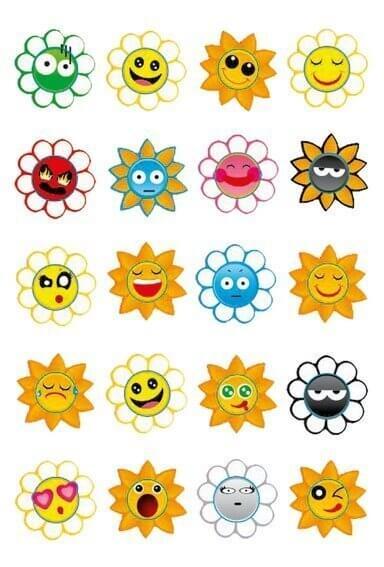 HERMA 3668 10x Sticker MAGIC Crazy Suns Puffy