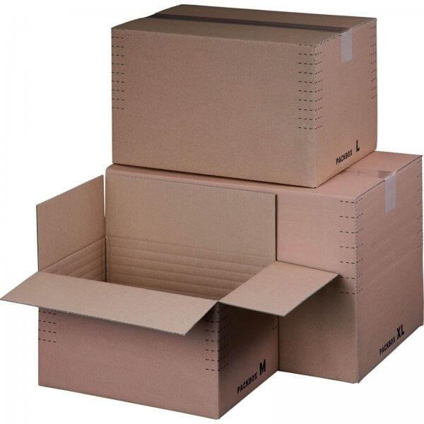 Versandkarton Automatikboden 390 x 280 x 100-240 mm 1/8 Euro