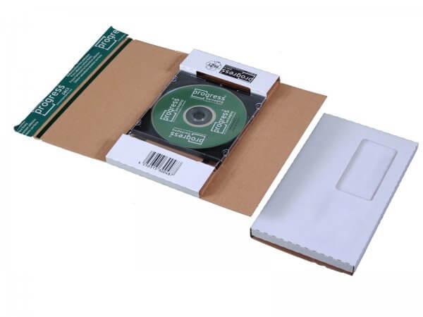CD-Jewel-Mailer 225 x 125 x 12 mm Fenster rechts