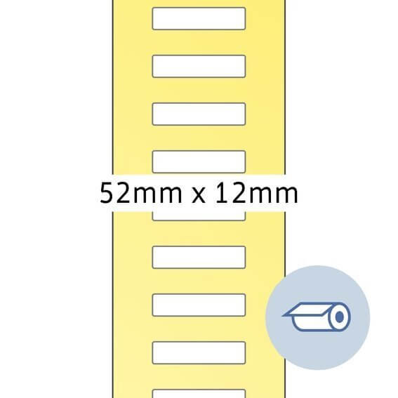 HERMA 4065 Rollenetiketten Thermotransfer 52x12 mm weiß Papier seidenmatt 5000 Stück