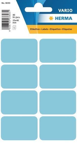 HERMA 3693 Vielzwecketiketten 25x40 mm blau Papier matt 400 Stück