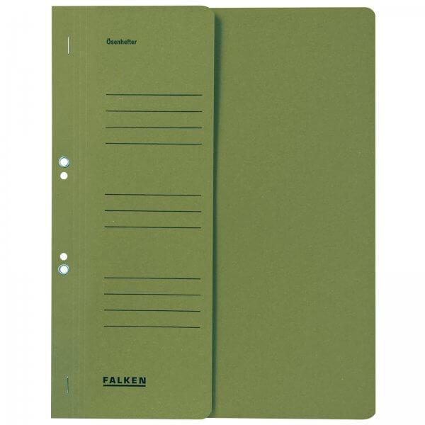 Ösenhefter DIN A4 1/2 Vorderdeckel kaufmännische Heftung Grün