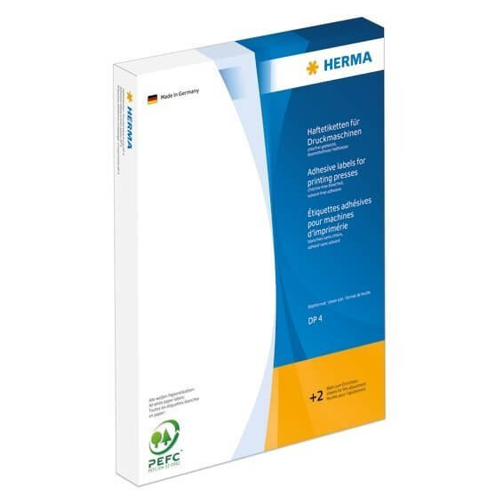 HERMA 4517 Haftetiketten für Druckmaschinen DP4 15x34 mm weiß Papier matt 27000 Stück
