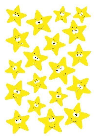 HERMA 3714 10x Sticker MAGIC Sterne Neon-Gelb