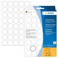 HERMA 2250 Vielzwecketiketten/Farbpunkte Ø 19 mm rund Papier matt Trägerpapier perforiert 1280 Stück