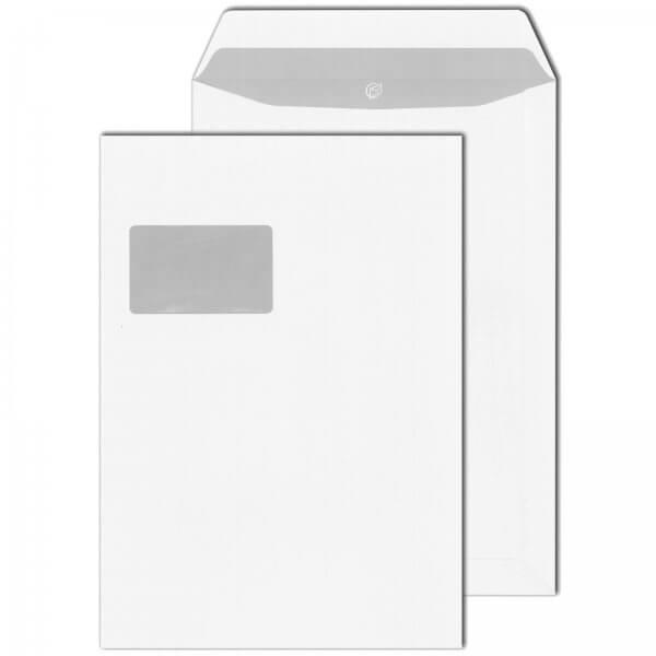 Versandtaschen DIN C4 90 g/m² mit Fenster Selbstklebend Weiß