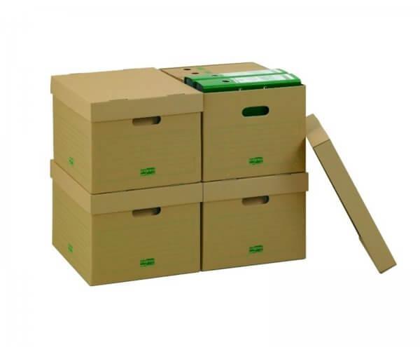 PREMIUM Archiv Transportcontainer 413 x 330 x 266 mm Braun