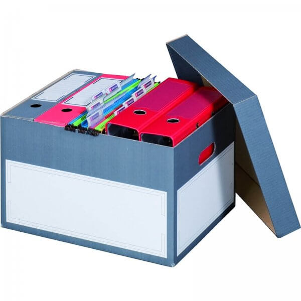 Archivcontainer für Ordner 414 x 331 x 266 mm Anthrazit