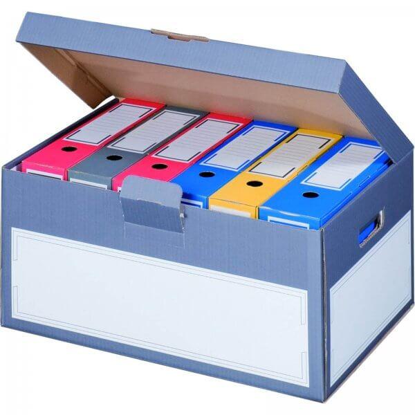 Archivcontainer für Ordner 522 x 333 x 268 mm Anthrazit