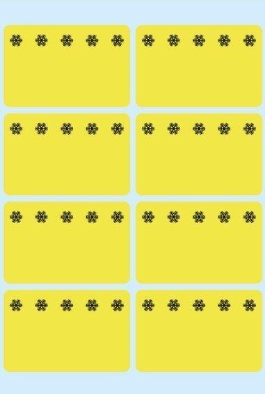 HERMA 3771 Tiefkühletiketten gelb 26x40 mm Eiskristalle 480 Stück