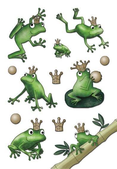 HERMA 3263 10x Sticker MAGIC Froschkönig Jewel
