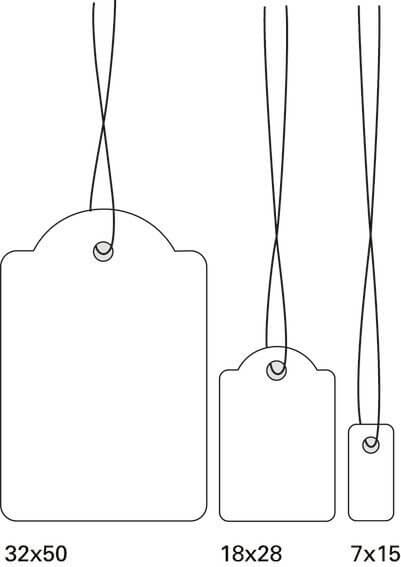 HERMA 6932 Hängeetiketten 15x24 mm mit Faden weiß 1000 Stück