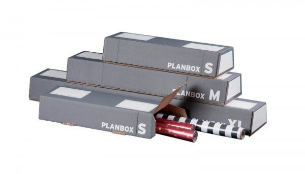 Versandhülse für DIN A2 selbstklebend 430 x 145/108 x 75 mm in Anthrazit