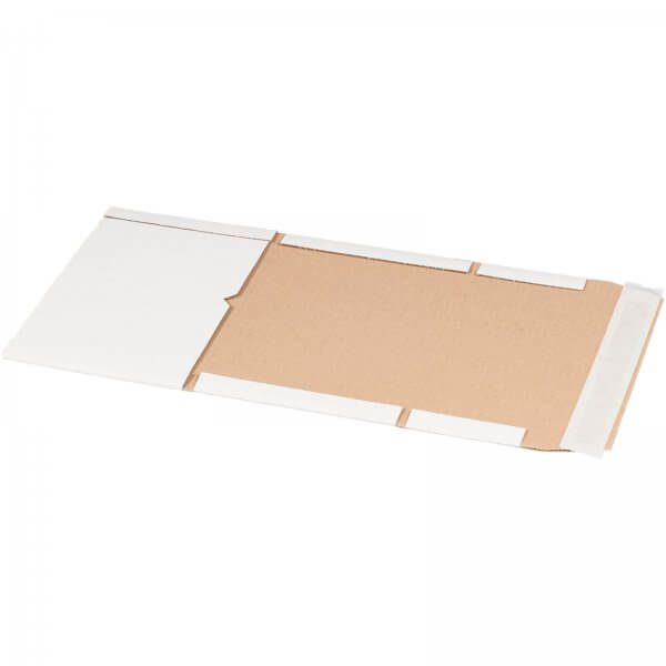 Buchversandverpackung 249 x 165 x 60 mm DIN A5+ Weiß
