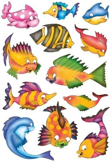 HERMA 3524 10x Sticker DECOR Bunte Fische