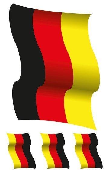HERMA 3187 Fensterdecor XL Deutschlandfahnen