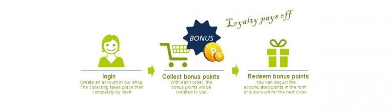 Secure loyalty bonus points at Kayoo.eu and save money on your next purchase.