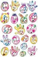 HERMA 3531 10x Sticker DECOR Bunte Gesichter