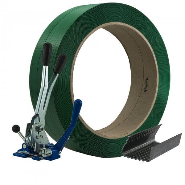 Umreifungsset 12 mm PET Verschlussgerät Verschlusshülsen