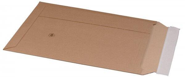 Kartonversandtasche 285 x 397 x 50 mm DIN B4+ mit Aufreißfaden & Selbstklebeverschluss