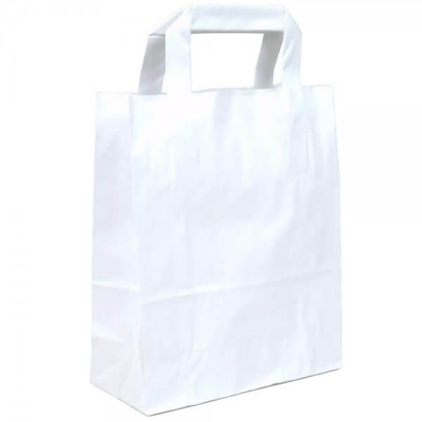 Papiertragetaschen 22 + 10 x 28 Weiß