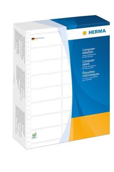 HERMA 8269 Computeretiketten 21082x1500 mm 1-bahnig weiß perforiert Papier matt 1000 Stück