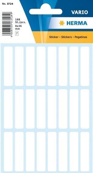 HERMA 3724 Vielzwecketiketten 8x36 mm weiß Papier matt 1680 Stück