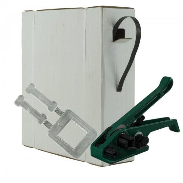 Umreifungsset 16 mm PP Bandspanner Kunststoffklemmen