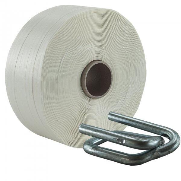 Umreifungsset 25 mm Textil Metallklemmen verzinkt