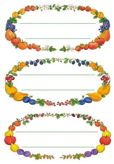HERMA 3598 10x Küchenetiketten Früchtekränze