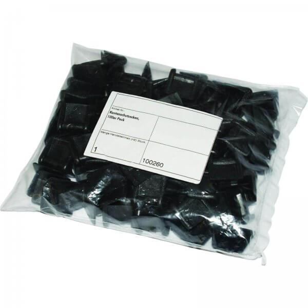 Kantenschutzecken ohne Dorn bis 19 mm Brandbreite Schwarz