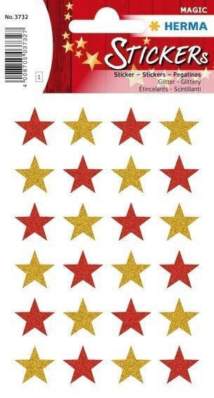 HERMA 3732 10x Sticker MAGIC Sterne glittery