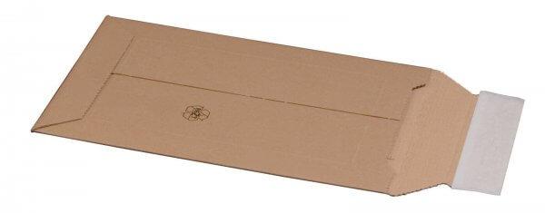 Kartonversandtasche 150 x 250 x 50 mm DVD mit Aufreißfaden & Selbstklebeverschluss