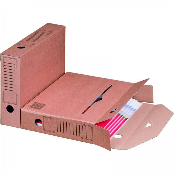 Archiv-Ablagebox Automatikboden 315 x 65 x 233 mm Braun