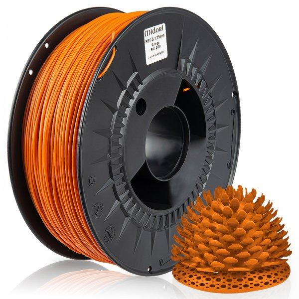 Midori® 3D PETG Filament 1,75mm 1kg Spule Orange RAL2000