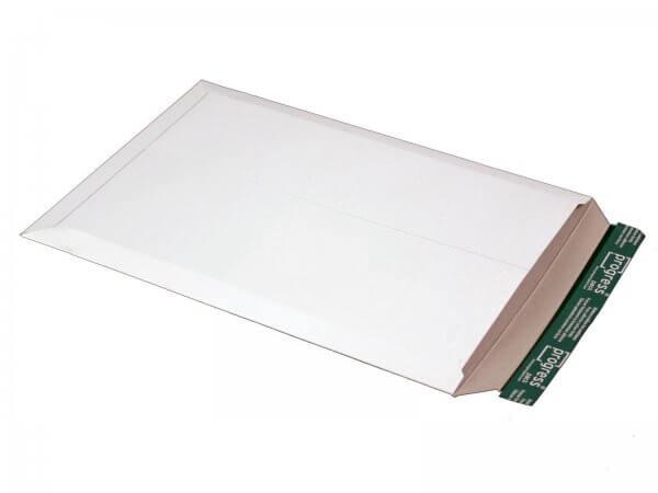 Versandtasche aus Vollpappe 455 x 321 x - 32 mm Weiß