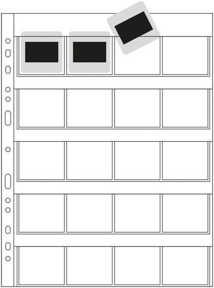 HERMA 7699 Diahüllen für Kleinbild-Dias Folie klar/matt 100 Hüllen