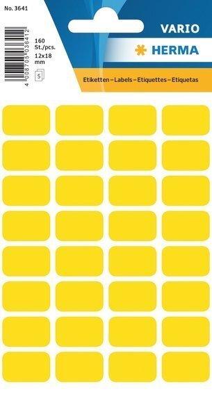 HERMA 3641 Vielzwecketiketten 12x18 mm gelb Papier matt 1600 Stück