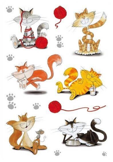 HERMA 3357 10x Sticker DECOR Lustige Katzen beglimmert