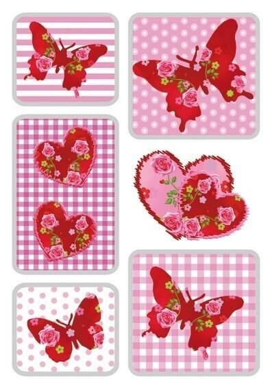 HERMA 3182 10x Sticker MAGIC Rosenherz Seide