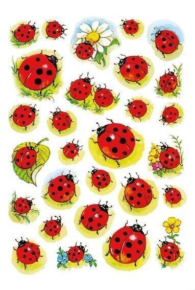 HERMA 3815 10x Sticker DECOR Marienkäfer+Blume