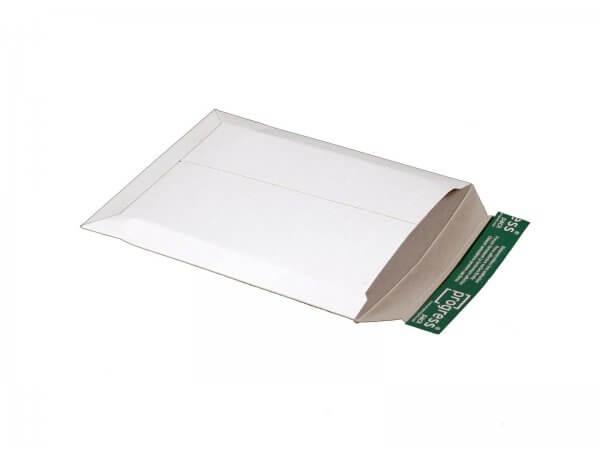 Versandtasche aus Vollpappe 269 x 214 x - 32 mm Weiß