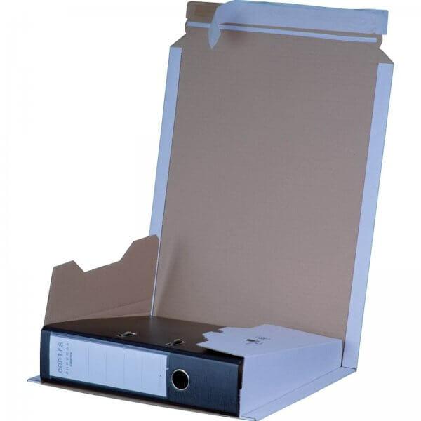 Ordnerversandkarton 320 x 285 x 35-80 mm mit Selbstklebeverschluss Weiß