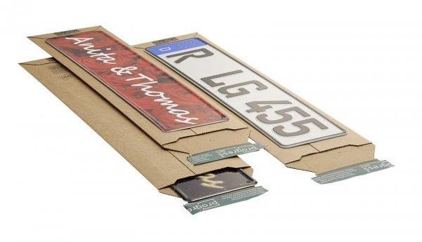 Versandtasche für Kfz-Kennzeichen 145 x 600 x - 55 mm