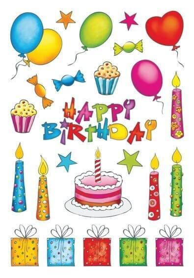 HERMA 3363 10x Sticker DECOR Geburtstag beglimmert