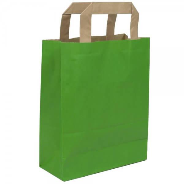 Papiertragetaschen 18 + 08 x 22 Grün