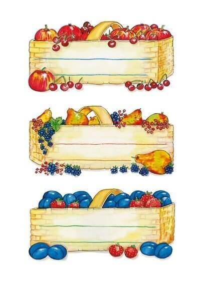 HERMA 3604 10x Küchenetiketten Obstkörbe