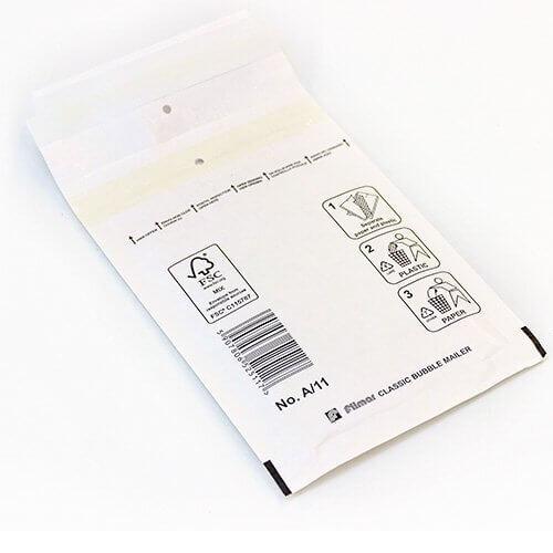Luftpolsterversandtasche weiß 1/A 100 x 165 mm