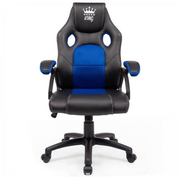 Midori® Racing Stuhl Bürostuhl Drehstuhl Sportsitz Schwarz/Blau