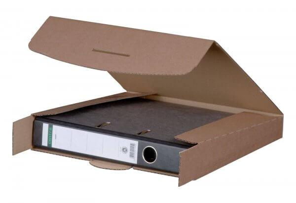 Ordnerversandkarton 320 x 288 x 50 mm mit Steckverschluss Braun